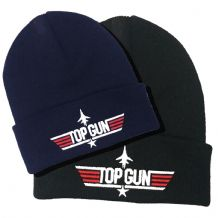 Top Gun Logo Embroidered Beanie Hat